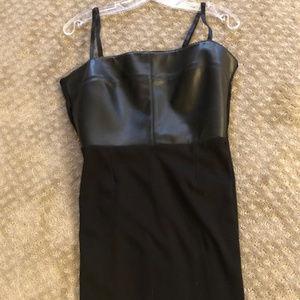 Bailey 44 leather spaghetti strap with drape-large